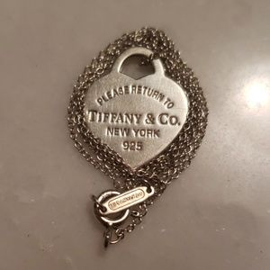 Tiffany and Co tag with origional chain
